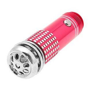MINI čistička vzduchu do auta se zabudovaným ionizátorem a ozonizátorem - červená