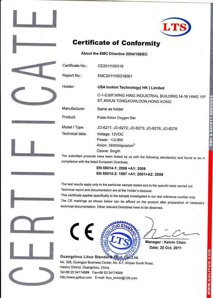 MINI čistička vzduchu do auta ION JO-6276 s ionizátorem a ozonizátorem - stříbrná