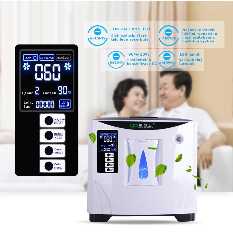 Kyslíkový koncentrátor OX ONE POWER 9L, 90% s nebulizérem