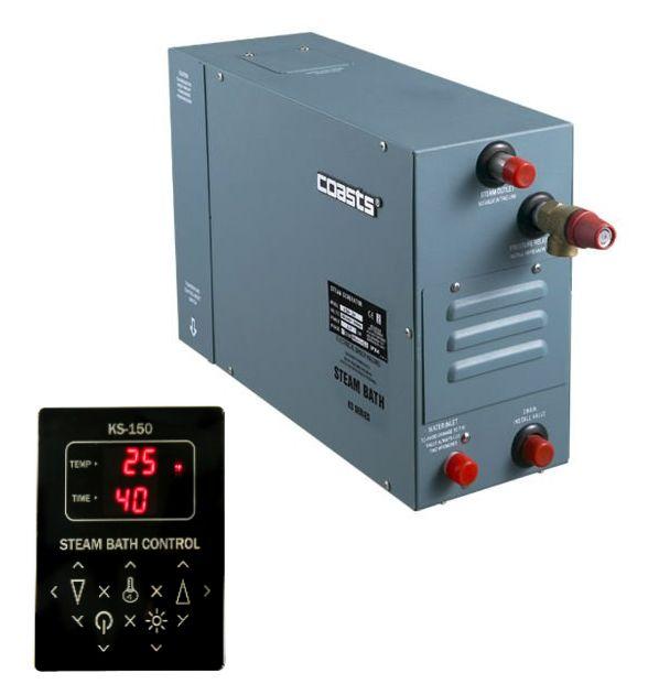 Parní generátor, vyvíječ páry pro sauny KSA-60 s ovládacím panelem KS-150