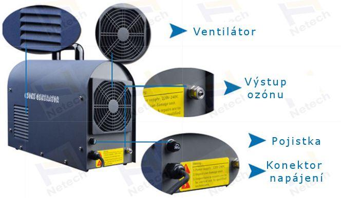 Ozónový generátor Netech NT-BS 6 g/h