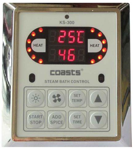 Parní generátor, vyvíječ páry pro saunu KSB-90CD s ovládacími panely KS-300 a KS30A, 380V