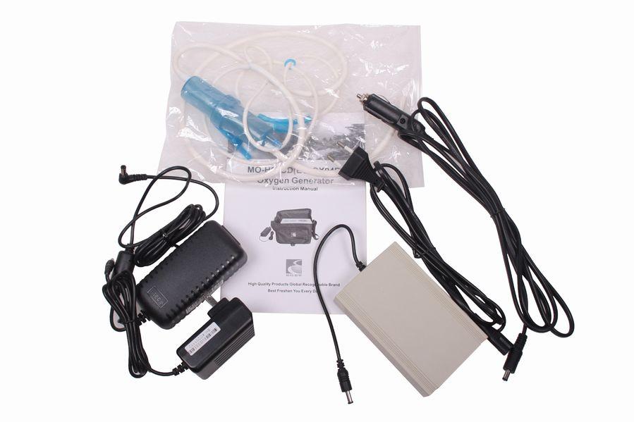 Přenosný kyslíkový koncentrátor s baterií OX ONE EGET 3L, 30% s druhou, náhradní baterií