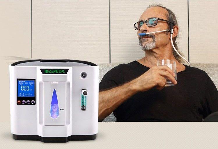 Kyslíkový koncentrátor DEDA DDT-1A s průtokoměrem, napájením do auta - 6L, 90 %