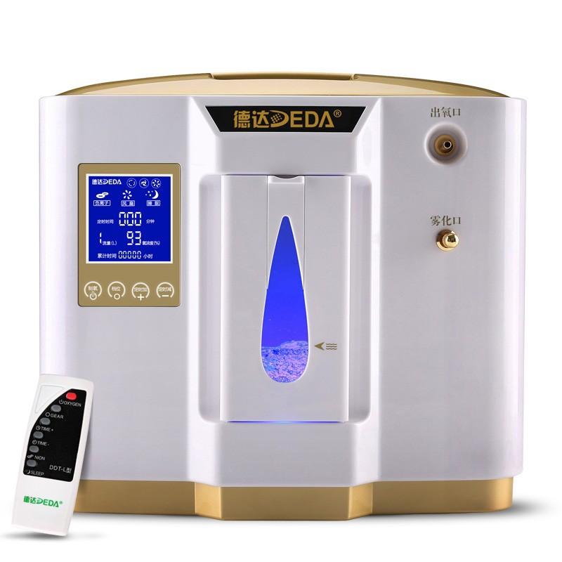 Kyslíkový koncentrátor DEDA DE-1LW s nebulizérem, napájením do auta - 6L, 90 %