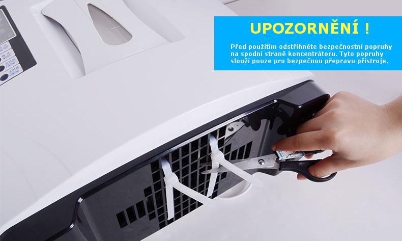 Kyslíkový koncentrátor XY-1 POWER 6L s adaptérem do auta - 90 %