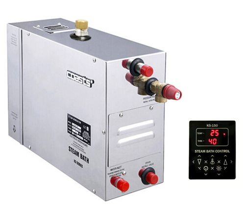 Parní generátor, vyvíječ páry pro sauny KSA-240 s ovládacím panelem KS-150, 380V