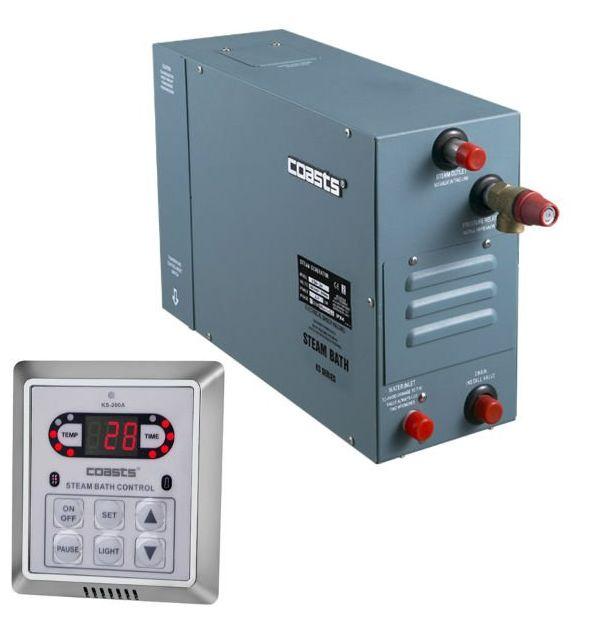 Parní generátor, vyvíječ páry pro sauny KSA-80 s ovládacím panelem KS-200A
