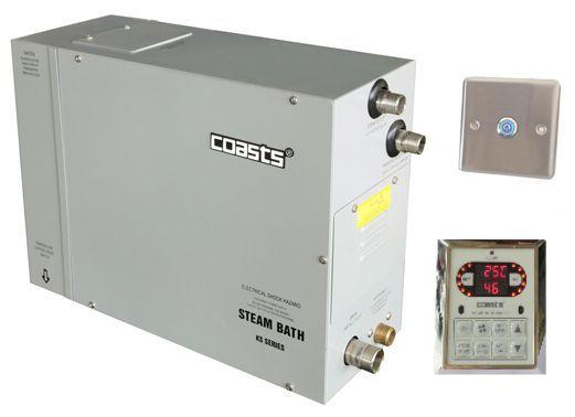 Parní generátor, vyvíječ páry pro saunu KSB-75CD s ovládacími panely KS-300 a KS30A, 380V