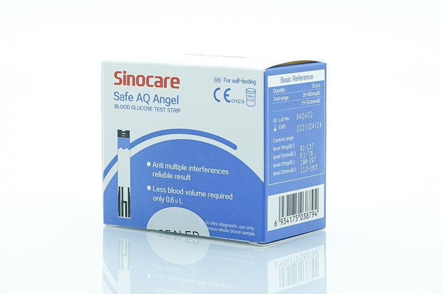 Sinocare testovací proužky pro glukometr Safe AQ Angel - 50 ks