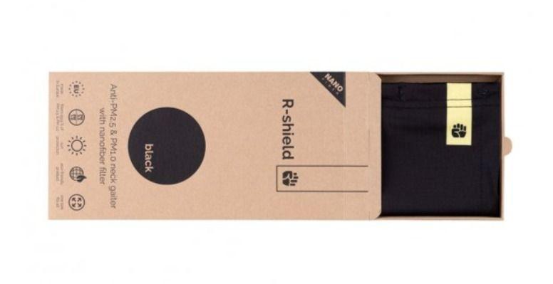 Respilon RESPIRÁTOR - Nákrčník s nanovlákenným filtrem 50 x vyprání BLACK