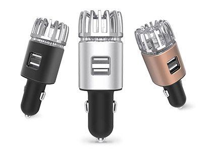 Ionizátor a čistička vzduchu do auta IONKINI JO-6291 s ozonizátorem a DUAL USB - černá