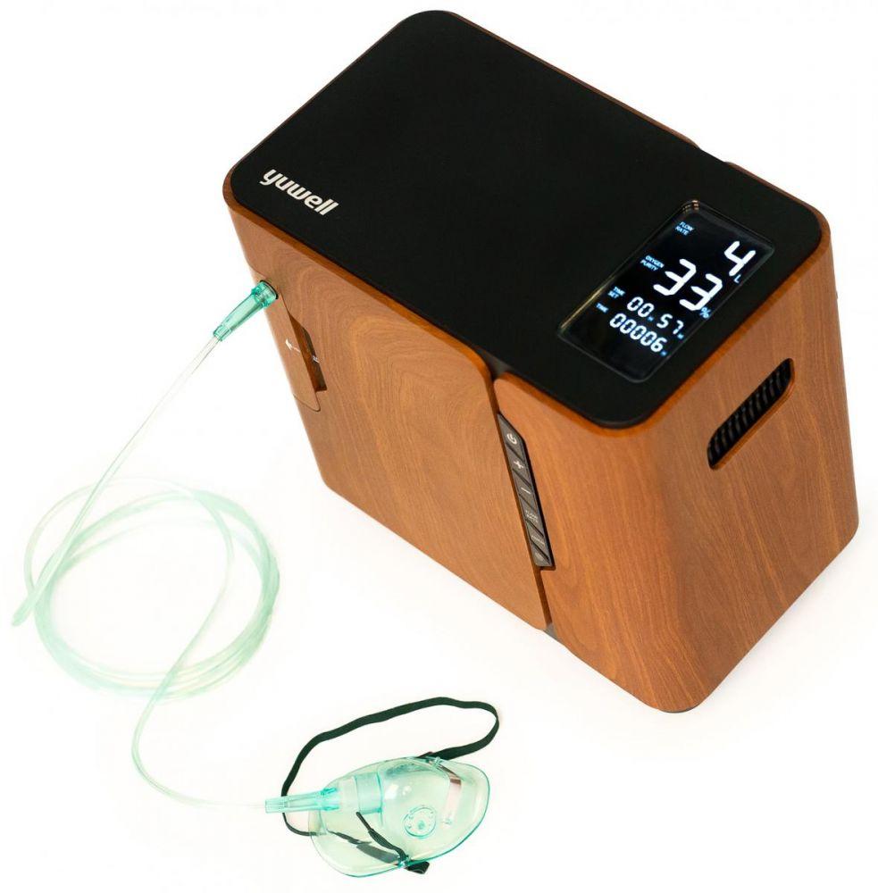 Kyslíkový koncentrátor, dýchací přístroj YU-500, 90 % - Z