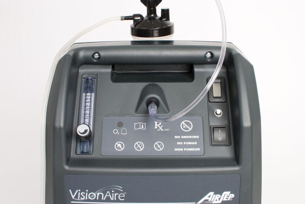 Kyslíkový koncentrátor, dýchací přístroj CAIRE VISIONAIRE 5L, 90 %
